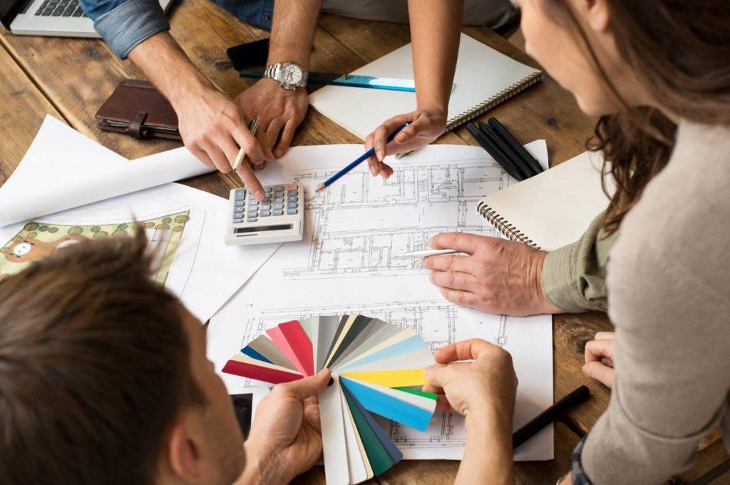 Plans et agencement dans le cadre d'une extension