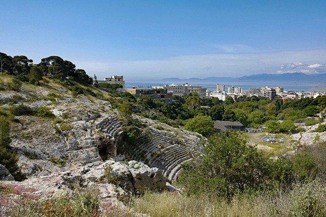Le grand amphithéâtre de Cagliari