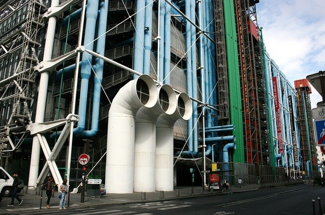 Le centre George Pompidou à Paris