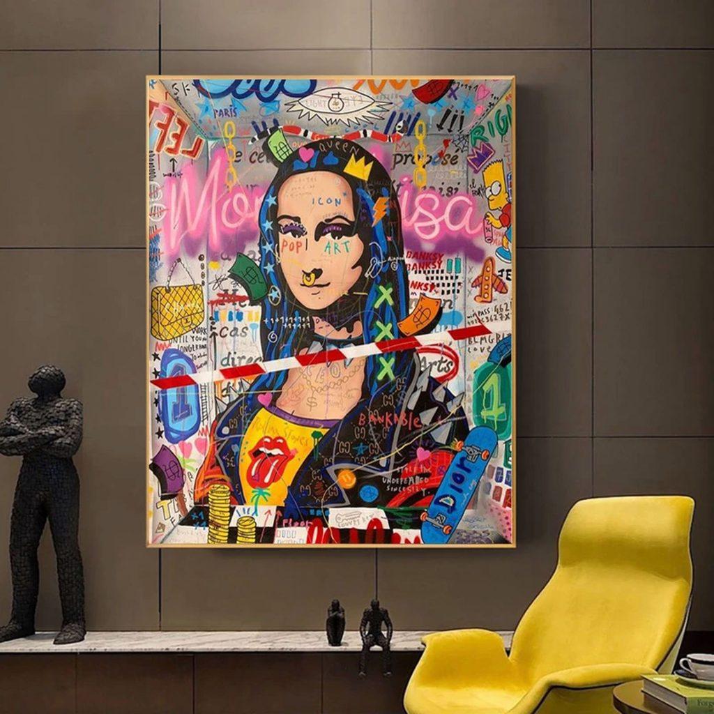 Tableau de décoration d'intérieur Street Art sur LoftyTrend.com