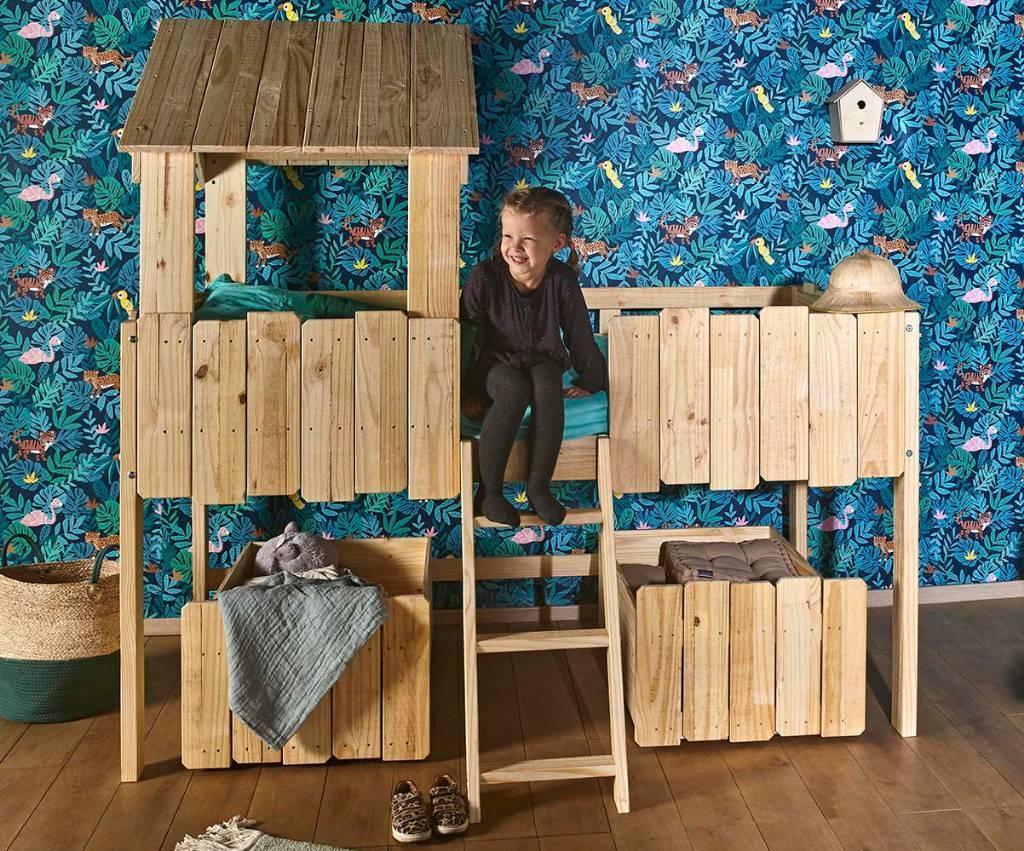 lit bois massif enfant santé