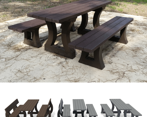 table plastique recycle